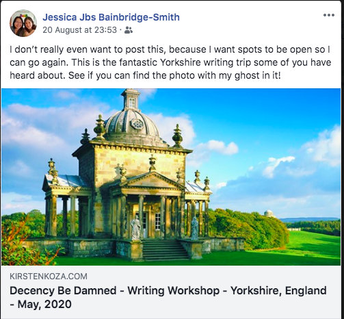 Decency Be Damned - Yorkshire - Writers' Expeditions  - testimonial