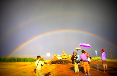 storm chasing with Chinese TV crew - photo by Kirsten Koza