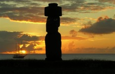 Easter Island sunset - photo by Kirsten Koza
