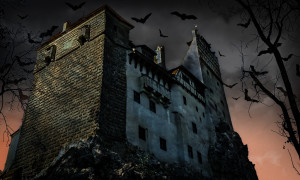 Bran Castle Transylvania Romania (Christopher Campbell used our guide's sunny day blue sky shot of the castle to create this Halloween version. Anyone who wants to learn to add mood and fun to their photos will have opportunities to do so on this trip.)