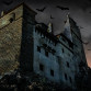 Bran Castle Transylvania Romania (Christopher Campbell used Horia Matei's sunny day blue sky shot of the castle to create this Halloween version. Anyone who wants to learn to add mood and fun to their photos will have opportunities to do so on this trip.)