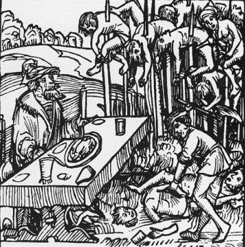 Vlad the Impaler was a master at psychological warfare. The Ottoman army returned to Constantinople when they encountered 20,000 (or possibly more) impaled corpses outside Vlad's home, Targoviste.