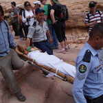 Jordan Petra, tourist collapses, photo by Kirsten Koza