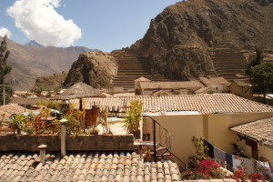 Ollantaytambo view from restaurant (photo by Kirsten Koza Writers' Expeditions)