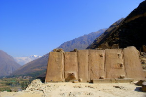 Ollantaytambo view from Inca ruins (photo by Kirsten Koza Writers' Expeditions)