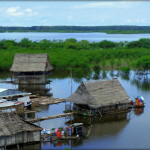 Iquitos, floating houses, photo by Kirsten Koza (Writers' Expeditions)