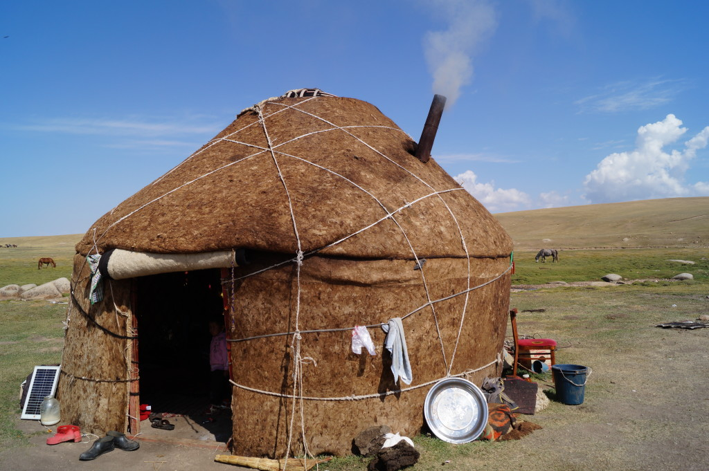 Felt yurt, Kyrgyzstan. (Photo by Kirsten Koza)