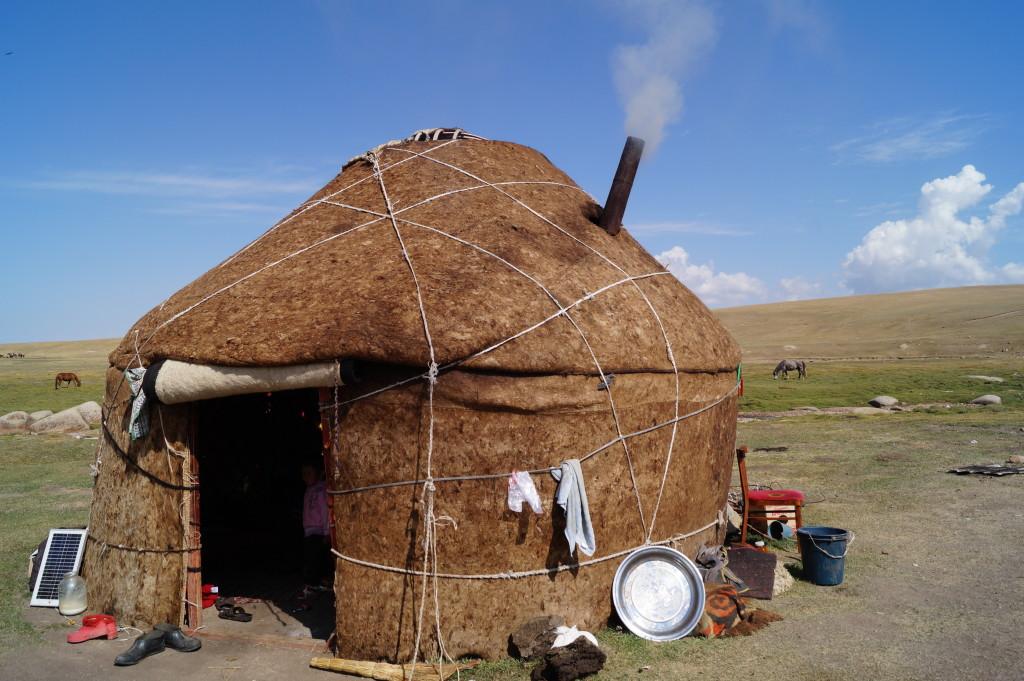 Felt yurt, Kyrgyzstan. (Photo by Kirsten Koza)