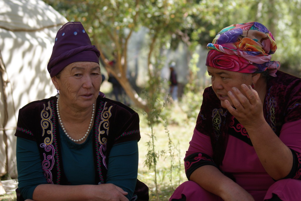 Kyrgyz women. (Photo by Kirsten Koza)