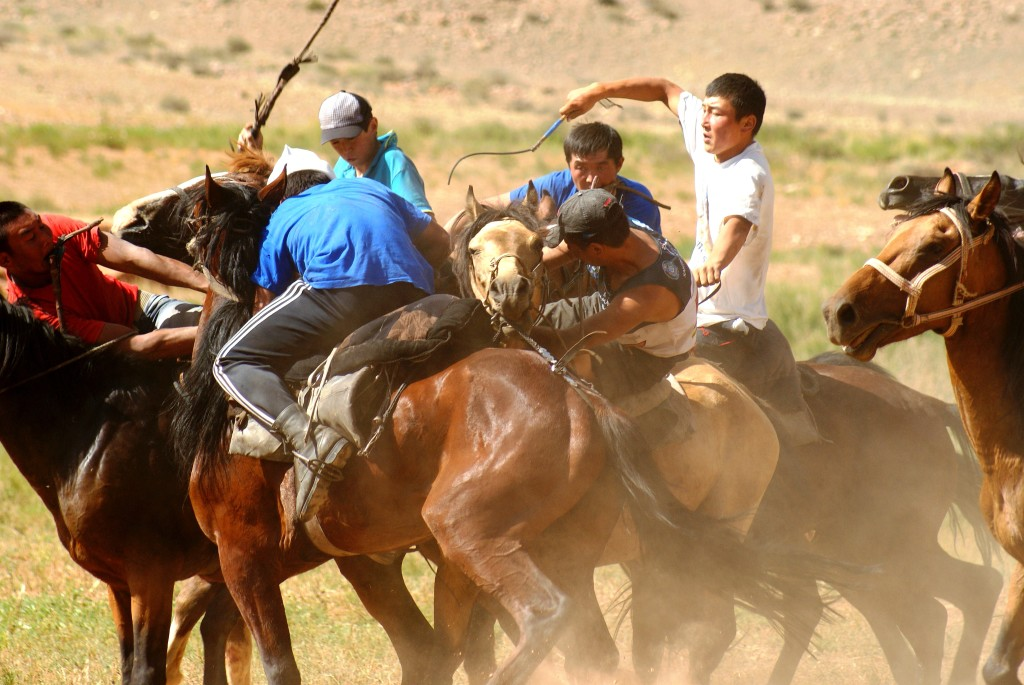 The national sport of Kyrgyzstan is Kok-boru. (Photo by Kirsten Koza)