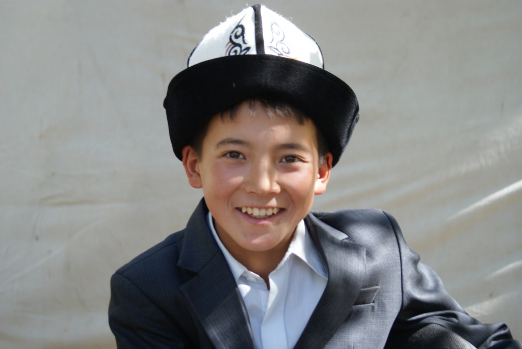 The kalpak is the traditional felt hat worn by males. (Photo by Kirsten Koza)