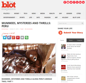 the blot mummies mysteries and thrills story by Kirsten Koza