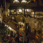 The castle courtyard during the Halloween party (Photo by Christopher Campbell)