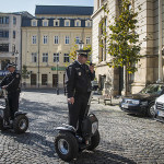 Bucharest police patrolling on Segways - Romania. (Photo by Christopher Campbell)