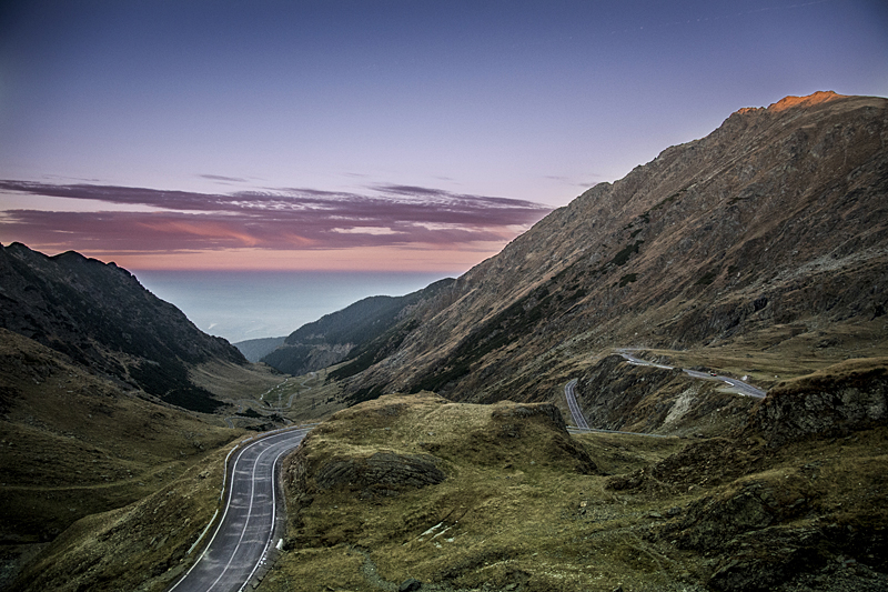 Crossing the Carpathians on the Transfagaras Highway. (Photo by Christopher Campbell)