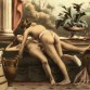 """Two women using a dildo"" – lithograph from De Figuris Veneris (1906) by Édouard-Henri Avril (public domain)"