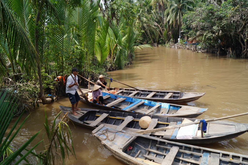 The Mekong Delta, a 39,000 square  kilometre labyrinth of waterways. (Photo by Kirsten Koza, Writers' Expeditions)