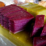Colourful rice based sweets, Mekong Delta. (Photo by Kirsten Koza, Writers' Expeditions)
