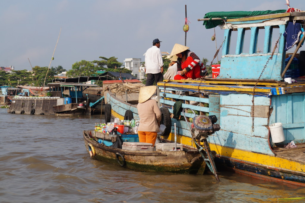 Floating market, Mekong Delta (Photo by Kirsten Koza, Writers' Expeditions)