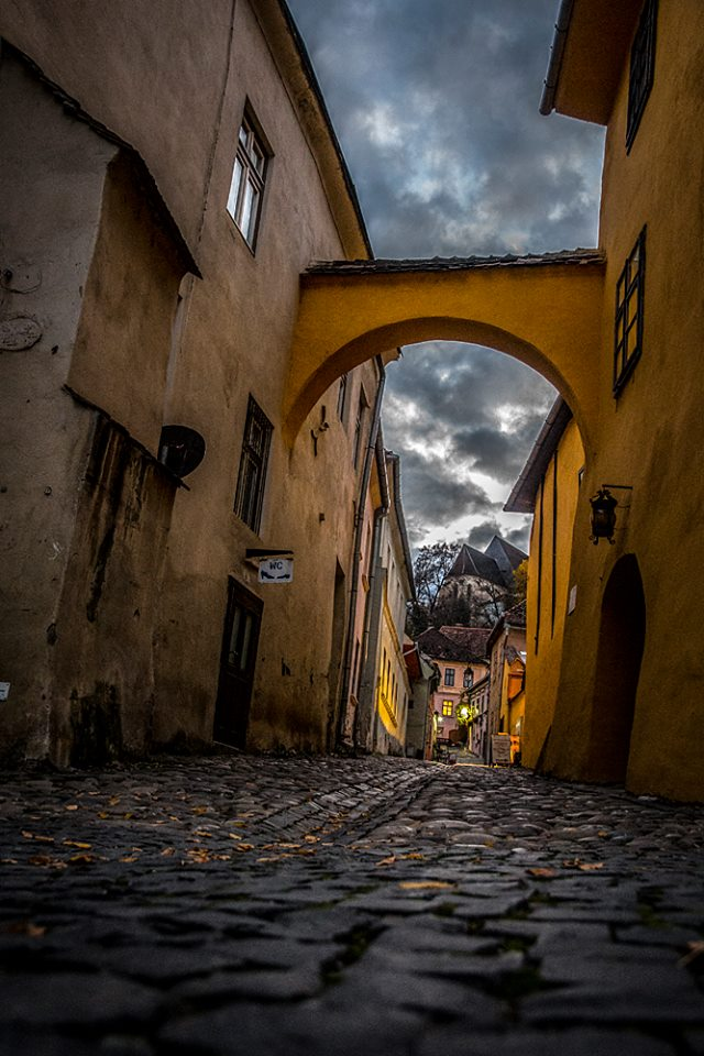 We'll be spending the night inside the medieval walled city of Sighisoara, across the street from where Vlad Dracula was born. (Photo by Christopher Campbell for Writers' Expeditions)