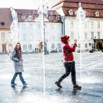 Fountains in Sibiu - past Writers' Expeditions participants. (Photo by Christopher Campbell)
