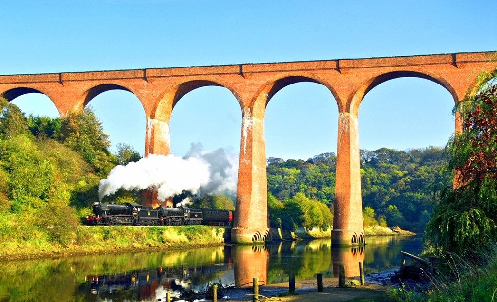 The North Yorkshire Moors steam train we'll take to Whitby, where we'll stay in Lewis Carroll's Yorkshire home.