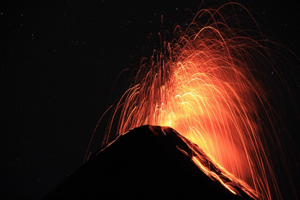 Fuego Volcano from La Reunion. (photo by Juliana Skaggs)
