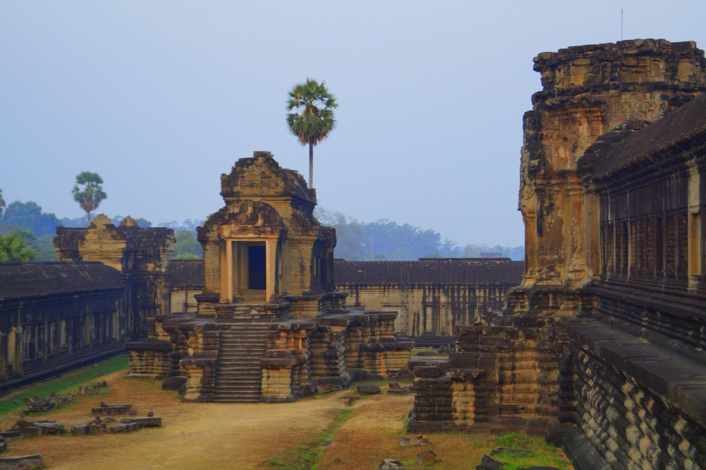 Early morning inside Angkor Wat (Photo by Kirsten Koza)