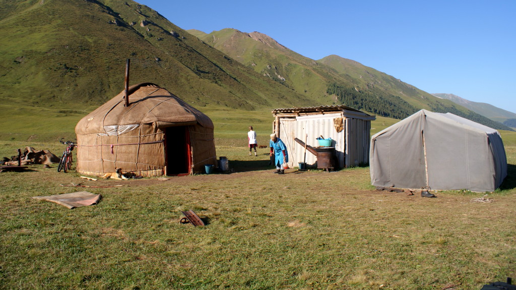 Yurt, Chong-Kemin valley, Kyrgyzstan. (Photo by Kirsten Koza)