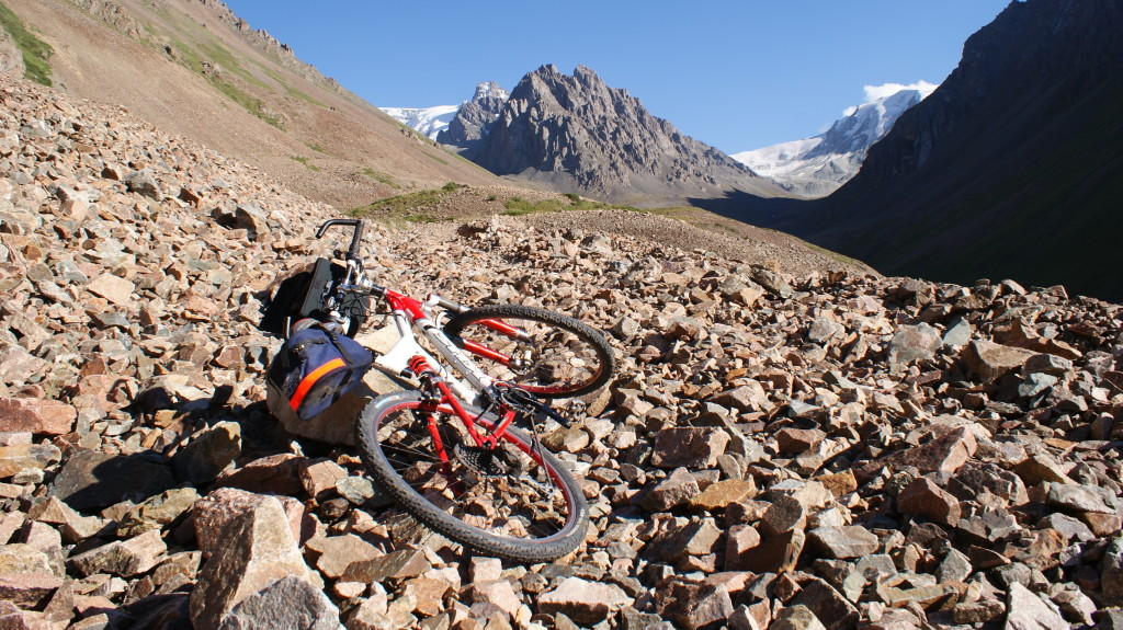I realized we were doing the full crossing of the mountain chain. Tian/Tien Shan mountains, Kyrgyzstan (Photo by Kirsten Koza)