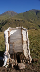 Yurt toilet, nomadic life, Kyrgyzstan (Photo by Kirsten Koza)
