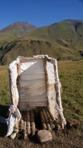 Yurt toilet, nomadic life, Kyrgyzstan (Photo by Kirsten Koza)