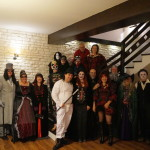 Halloween party 2017 group shot. (Writers' Expeditions)