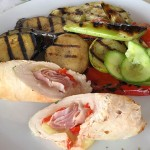 Romanian grilled veg and stuffed chicken. (Writers' Expeditions)