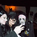 A trio of sister participants from our 2018 expedition at Bran Castle's Halloween party. (Writers' Expeditions)