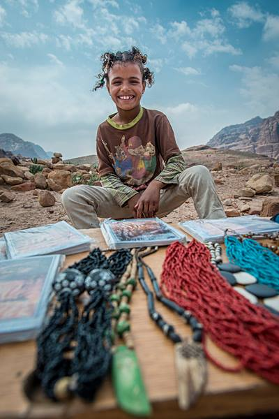 A Bedouin kid at Petra. (Photo by Christopher Campbell, Writers' Expeditions)