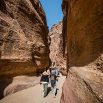 Chasm at Petra. (Photo by Christopher Campbell, Writers' Expeditions)