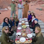 Our 2014 participants having a picnic in Wadi Rum. (Photo by Christopher Campbell, Writers' Expeditions)