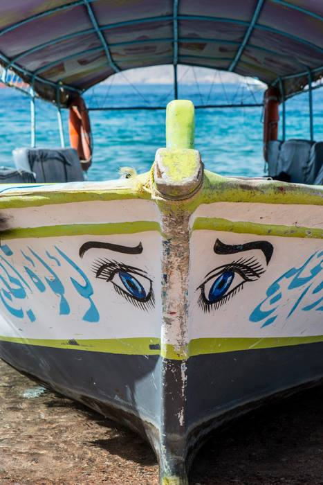 The Red Sea - boats with eyes. (Photo by Christopher Campbell, Writers' Expeditions)