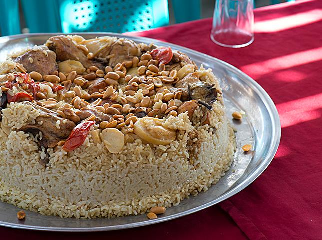 Maqluba is a traditional dish in Jordan. (Photo by Christopher Campbell, Writers' Expeditions)