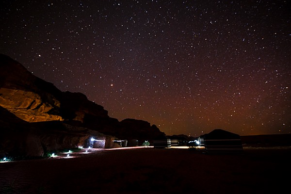 Night photography outing at Wadi Rum. (Photo by Christopher Campbell, Writers' Expeditions)