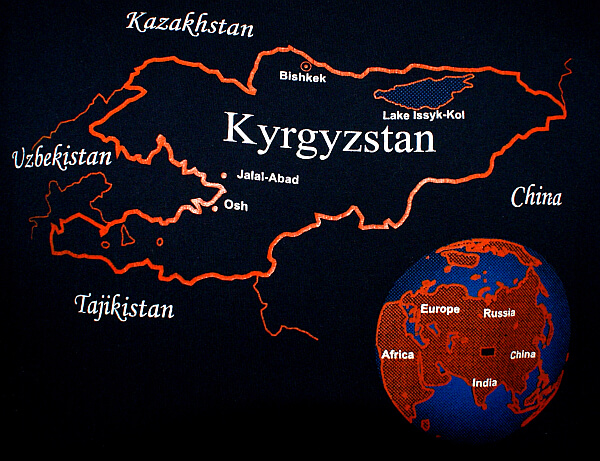 Map of Kyrgyzstan on t-shirt (Photo by Kirsten Koza)