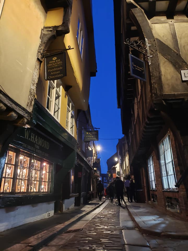 The Shambles, at night, York (Photo by Kirsten Koza)