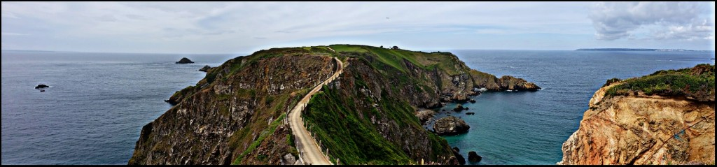 La Coupée, Sark - a 100-metre causeway joining Big Sark to Little Sark (photo by Kirsten Koza, your writing expedition host)