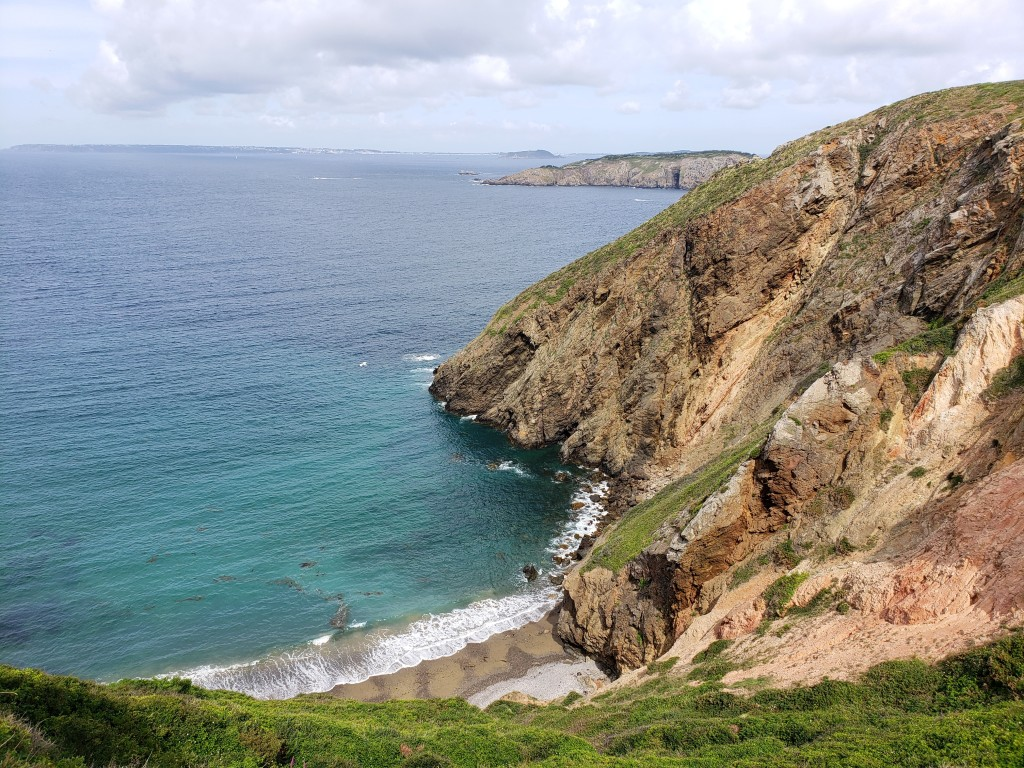 A secluded beach on Sark (photo by Kirsten Koza)