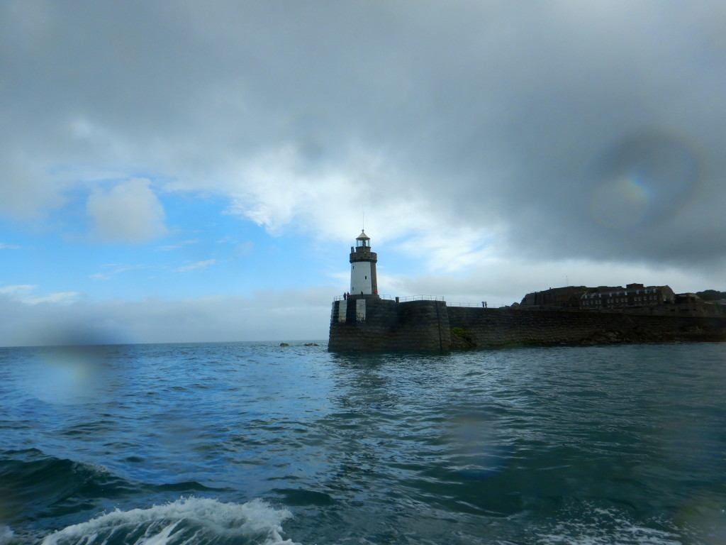 Aboard the Sark Isle ferry at St. Peter's Port, Guernsey. (photo by Kirsten Koza, Writers' Expeditions)