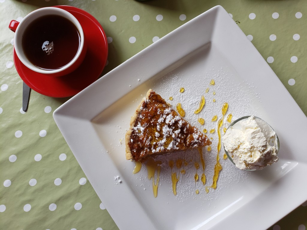 Treacle tart and another spot of tea, on Sark. (photo by Kirsten Koza)