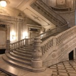 Palace of Parliament, Bucharest. Stairs. (Photo by Christopher Campbell for Writers' Expeditions)